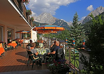 4 stars Hotels in Canazei (****) in Canazei. Our terrace